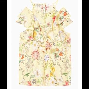 PARKER TERRY YELLOW FLORAL BLOUSE